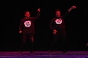 Mary & Diana in full flight on stage at the Millennium Theatre