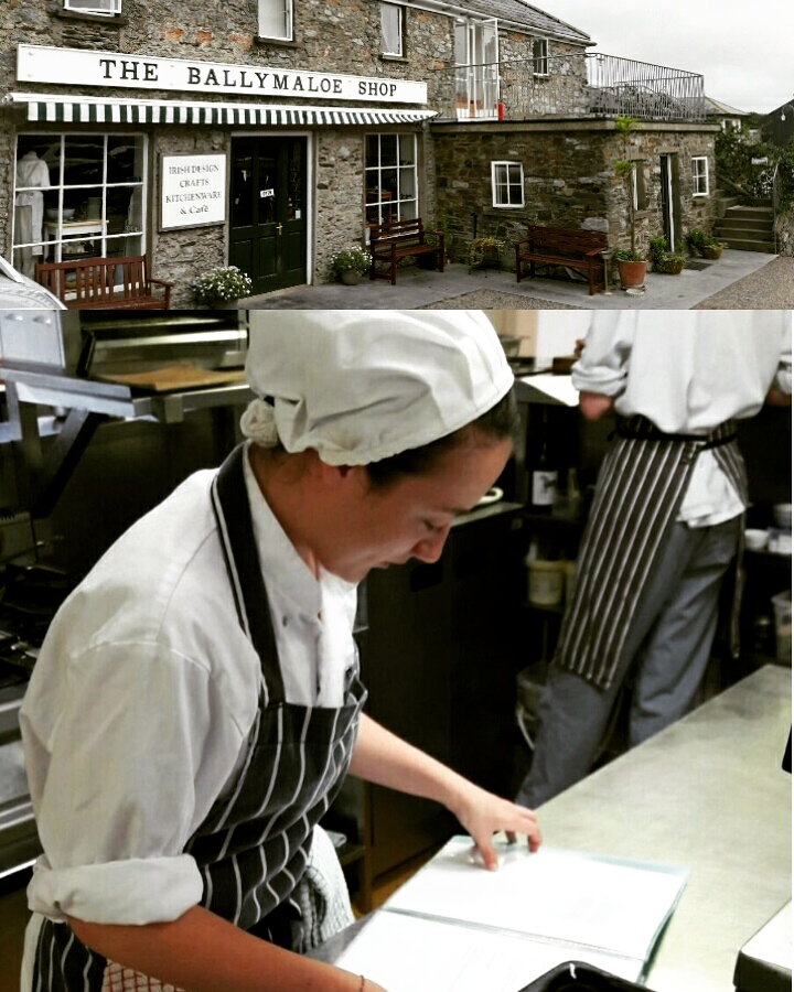 Trainee April at Ballymaloe Catering School
