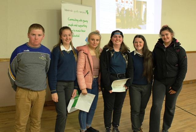 Ciara O'Neill presented with cheque from YouthBank